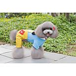 Недорогие -Собака Плащи Толстовки Одежда для собак На каждый день Симпатичные Стиль Цветочные/ботанический Пэчворк Буквы и цифры Желтый Пурпурный