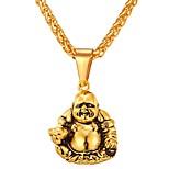 Недорогие -Муж. Жен. , Хип-хоп Cool Ожерелья с подвесками , Нержавеющая сталь Ожерелья с подвесками , Повседневные фестиваль