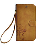 cheap -Case For Sony Card Holder Wallet with Stand Flip Flower Hard for Sony