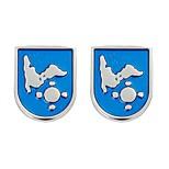 Недорогие -Шары Цветочный узор Синий Запонки Медь Классический Мода Повседневные Официальные Муж. Бижутерия