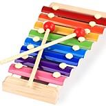 Недорогие -Ксилофон Игрушечные инструменты Игрушки Веселье Прямоугольный Дерево Куски Универсальные Подарок