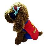 preiswerte -Hund Weste Hundekleidung Stilvoll Inklusive Umhang Buchstabe & Nummer Blau Kostüm Für Haustiere