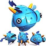 Недорогие -Магнитный конструктор Игрушки Рыбки трансформируемый Новый дизайн Мягкие пластиковые 71 Куски