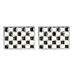 Недорогие -Прямоугольная Белый Запонки Медь Классический Мода Повседневные Официальные Муж. Бижутерия