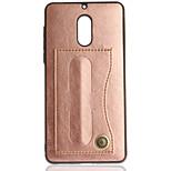 Недорогие -Кейс для Назначение Nokia Nokia 6 Nokia 3 Бумажник для карт со стендом Сплошной цвет Твердый для