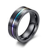 Недорогие -Муж. Классические кольца , Простой На каждый день Мода Титан Сталь Круглый Бижутерия Офис