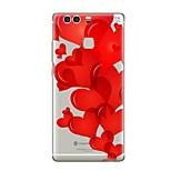 cheap -Case For Huawei P9 P10 Transparent Pattern Back Cover Heart Soft TPU for P10 Plus P10 Lite P10 P9 P9 Lite P9 lite mini P9 Plus P8 P8 Lite