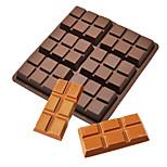 Недорогие -6 клеток средний шоколад конфета конфеты силиконовая форма печенье печенье выпечка плесень