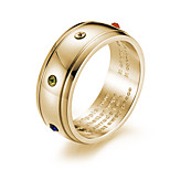 cheap -Men's Band Rings Rhinestone Casual Fashion Titanium Steel , Jewelry Office & Career Work