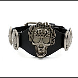 cheap -Men's Bracelet , Hiphop Korean Cool Leather Alloy Skull Jewelry Daily