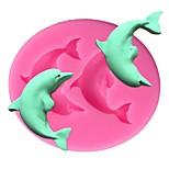 Недорогие -Дельфин силиконовые формы 3d помадные мыло шоколадные конфеты сахаристые формы торт украшения инструменты