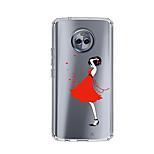 Недорогие -Кейс для Назначение Motorola E4 Plus С узором Задняя крышка Соблазнительная девушка Мягкий TPU для Moto X4 Moto E4 Plus Moto E4