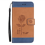 cheap -Case For Huawei P9 Lite P8 Lite (2017) Card Holder Wallet with Stand Flip Embossed Full Body Flower Hard PU Leather for P9 P9 Lite P9