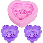 cheap -Cake Molds Roses Heart For Candy Cookie Cake For Cupcake For Cookie Silica Gel DIY Thanksgiving Valentine's Day Birthday Baking Tool