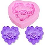 Недорогие -Формы для пирожных Розы Сердце конфеты Для Cookie Для торта Cupcake Печенье силикагель Своими руками День Благодарения День Святого