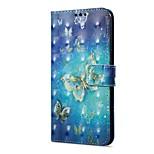Недорогие -Кейс для Назначение OnePlus 5 OnePlus 5T Кошелек Бумажник для карт со стендом Флип С узором Магнитный Чехол Бабочка Твердый Искусственная