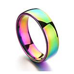 Недорогие -Муж. Жен. Классические кольца , На каждый день Цветной нержавеющий Круглый Радужный Бижутерия Повседневные Официальные