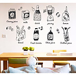 cheap -Food Food & Beverage Wall Stickers 3D Wall Stickers Decorative Wall Stickers, Paper Home Decoration Wall Decal Wall