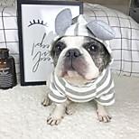 Недорогие -Собака Толстовки Толстовка Одежда для собак Стиль На каждый день Однотонный Серый Костюм Для домашних животных