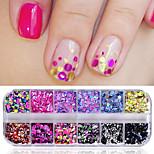 Недорогие -Гель для ногтей Пайетки Милый стиль Классика Элегантный и роскошный Высокое качество Повседневные Дизайн ногтей