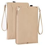 Недорогие -Кейс для Назначение Apple iPad mini 4 Кошелек Защита от удара С узором Авто Режим сна / Пробуждение Чехол Сплошной цвет Твердый Кожа PU