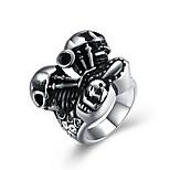 Недорогие -Муж. Массивные кольца , Классика Винтаж Мода Нержавеющая сталь , Бижутерия градация Для клуба