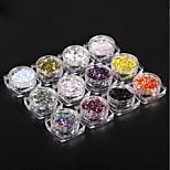 Недорогие -Гель для ногтей Пайетки Классика Гель для ногтей Высокое качество Повседневные Дизайн ногтей