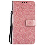 cheap -Case For Sony Xperia XA1 Xperia L1 Card Holder Wallet with Stand Flip Embossed Full Body Flower Hard PU Leather for Z5 Mini Z5 Z4 Mini Z4