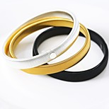 cheap -Men's Bangles Metallic Simple European Hiphop Alloy Circle Jewelry Gift Daily Street