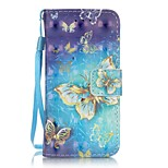cheap -Case For iTouch 5/6 Card Holder Wallet with Stand Pattern Auto Sleep/Wake Up Full Body Hard