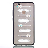 cheap -Case For Huawei P8 Lite (2017) P10 Lite Transparent Pattern Back Cover Feathers Hard Acrylic for P10 Lite P9 Lite P8 Lite (2017)