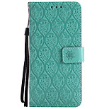 cheap -Case For LG K10 (2017) G6 Card Holder Wallet with Stand Embossed Full Body Solid Color Flower Hard PU Leather for LG X Power LG V30 LG