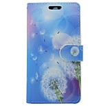 Недорогие -Кейс для Назначение Huawei P9 Кошелек Бумажник для карт со стендом Флип одуванчик Цветы Твердый для Huawei