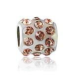 Недорогие -Ювелирные изделия DIY 1 штук Бусины Искусственный бриллиант Сплав Белый Зеленый Розовое золото Цилиндр Шарик 0.5 cm DIY Ожерелье Браслеты
