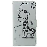 Недорогие -Кейс для Назначение Huawei P9 Кошелек Бумажник для карт со стендом Флип Мультипликация Твердый для Huawei