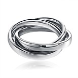 cheap -Men's Women's Band Rings Stainless Steel Twist Circle Jewelry New Year Valentine