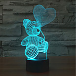 cheap -1pc 3D Lamp LED Night Light Touch Colorful Bear&Love Novelty Table Desk for Valentine's Day
