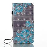 Недорогие -Кейс для Назначение Xiaomi Redmi Примечание 5A Redmi Note 4X Кошелек Бумажник для карт со стендом Чехол Цветы Твердый Искусственная кожа