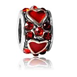 Недорогие -Ювелирные изделия DIY 1 штук Бусины Искусственный бриллиант Сплав Красный Круглый Шарик 0.5 cm DIY Ожерелье Браслеты