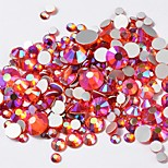 cheap -Rhinestones Crystal Rhinestones Orange Nail Art Design