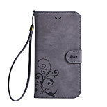 Недорогие -Кейс для Назначение LG Бумажник для карт Кошелек со стендом Флип Цветы Твердый для
