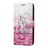 Недорогие -Кейс для Назначение Huawei P9 lite mini Кошелек Бумажник для карт со стендом Флип Магнитный С узором Чехол Пейзаж Твердый Искусственная