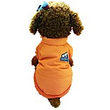 cheap -Dog Cold-proof Clothing Dog Clothes Stylish Simple Style Letter & Number Orange Costume For Pets