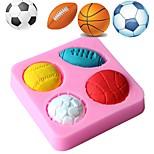 Недорогие -футбол баскетбол футбол теннис мяч силиконовые формы шоколад пресс-помада торт украшения инструмент