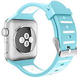 Недорогие -Ремешок для часов для Apple Watch Series 3 / 2 / 1 Apple Повязка на запястье Современная застежка силиконовый