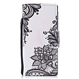 cheap -Case For Sony Xperia XZ1 Xperia XZ1 Compact Card Holder Wallet with Stand Flip Magnetic Pattern Full Body Flower Hard PU Leather for