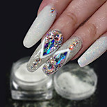 cheap -1pc Luxury Sparkle Trendy Powder Nail Glitter Glitter Powder Pattern White Nail Art Design Nail Art Tips