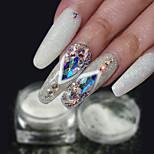 Недорогие -1шт Роскошь Блестящие модный порошок Порошок блеска Гель для ногтей Образец Кот Дизайн ногтей Советы для ногтей