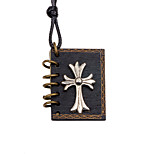 cheap -Men's Cross Locket Shape Casual Fashion European Pendant Necklace , Wooden Alloy Pendant Necklace Other Daily Costume Jewelry