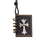 Недорогие -Муж. Крест Медальон форма На каждый день Мода европейский Ожерелья с подвесками , деревянный Сплав Ожерелья с подвесками Другое